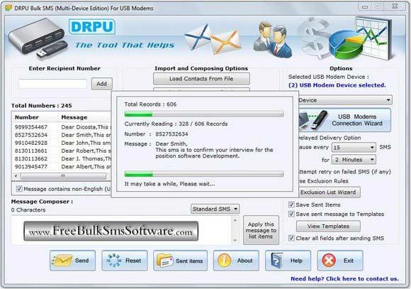Windows 7 GSM Modem Send SMS 8.2.1.0 full